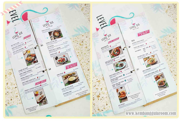 level six cafe bandung menu 1