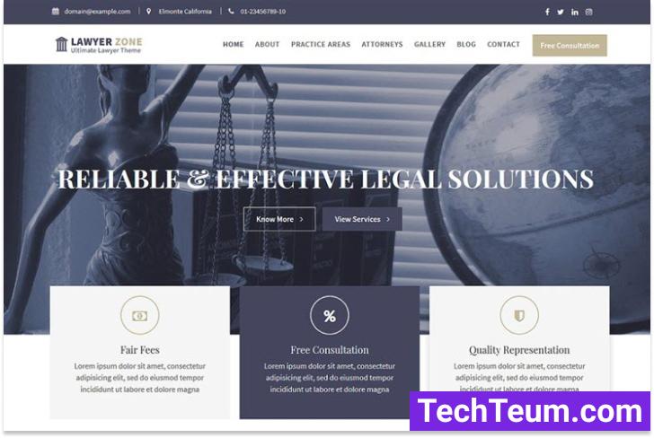 Lawyer Zone WordPress Theme