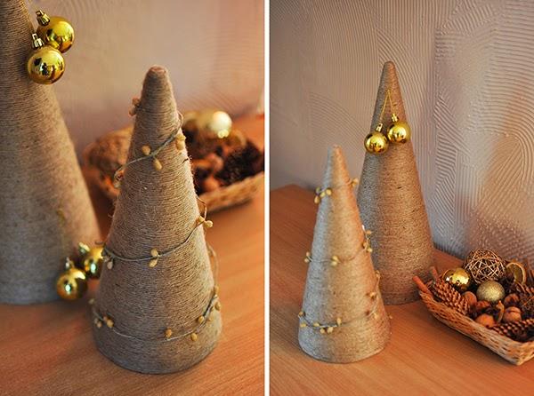 świąteczne Dekoracje Diy Choinka Ze Sznurka Jutowego