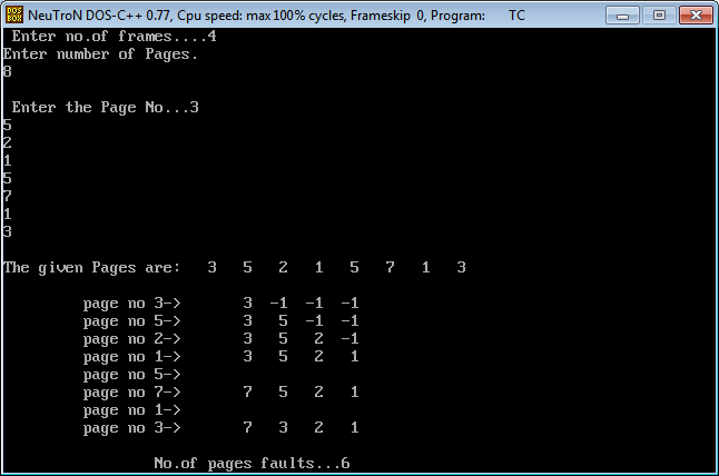 Professor Jayesh: Simulate FIFO(First In First Out) page replacement