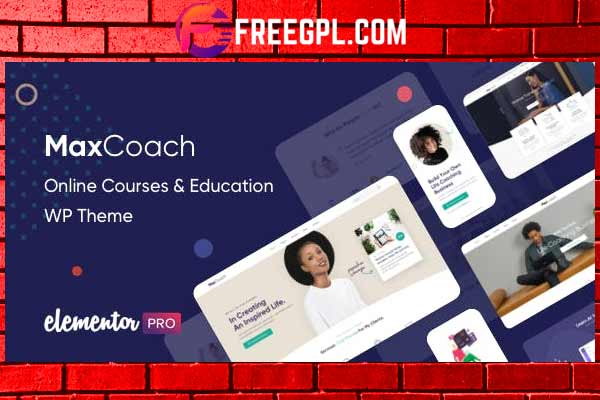 MaxCoach - Online Courses, Personal Coaching & Education WP Theme Free Download