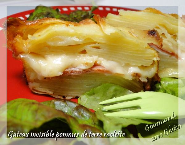 Gâteau invisible pommes de terre raclette