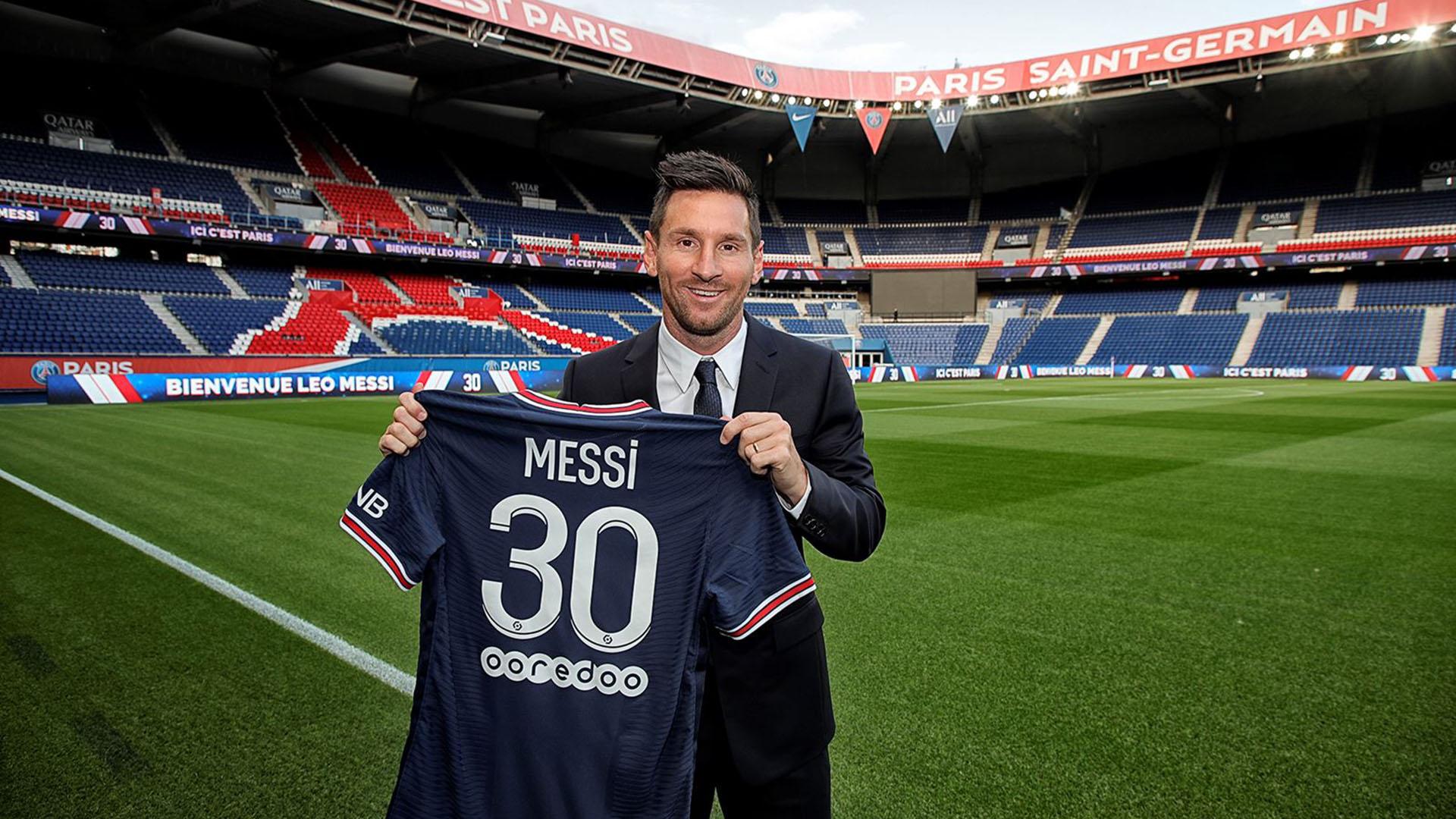 Por qué Messi usa la camiseta número 30 en el PSG