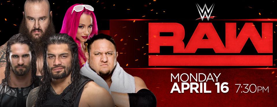 WWE Monday Night Raw 16th April 2018 600MB HDTV 480p x264