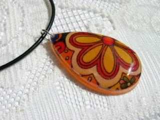 Recycled Fabric Necklace