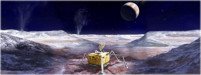 missão a lua Europa - início do projeto - piloto