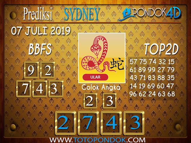 Prediksi Togel SYDNEY PONDOK4D 07 JULI  2019