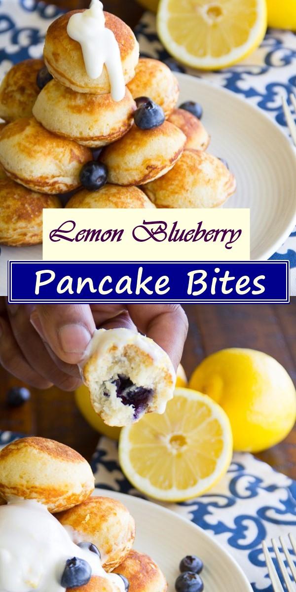 Lemon Blueberry Pancake Bites #Breakfastideas