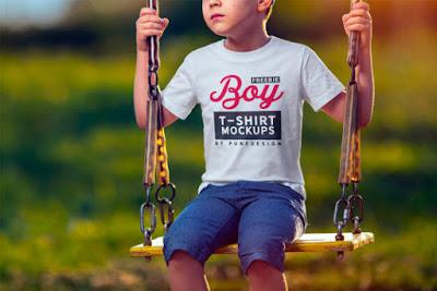 Mockup Kaos Anak