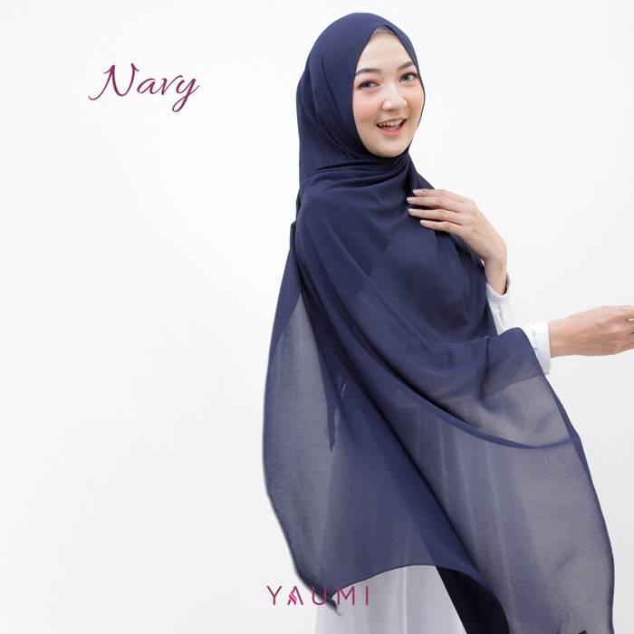 Yaumi Hijab Pashmina Navy