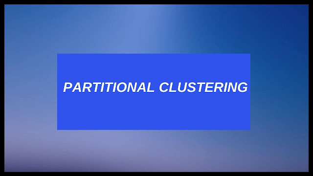 partitional clustering methods