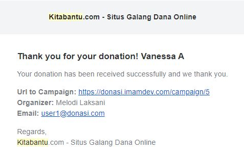 Menonaktifkan Fitur Notifikasi Email Donasi Kitabantu
