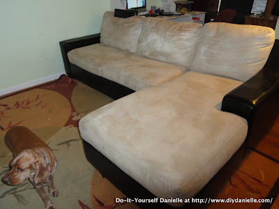 Our Poor Couch Part Ii Cleaning Microfiber Diy Danielle