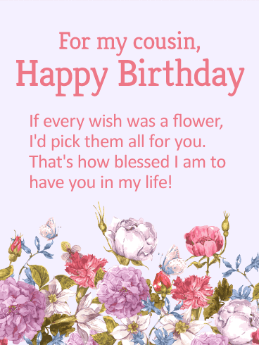 beautiful birthday wishes to a cousin