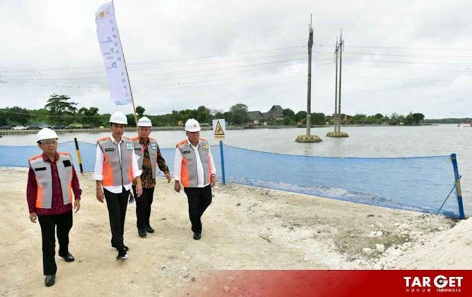 Presiden Joko Widodo Tinjau Waduk Muara Nusa Dua di Bali