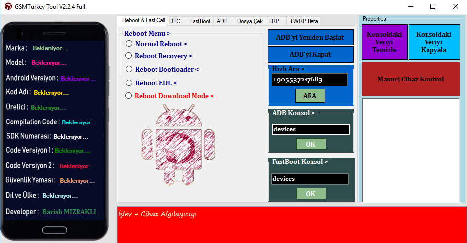 GSM Turkey v2 2 4 Remove Frp Qualcomm,Xiaomi,Lenovo,Asus,MTk