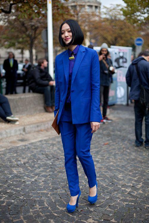 cobalt street style fashion