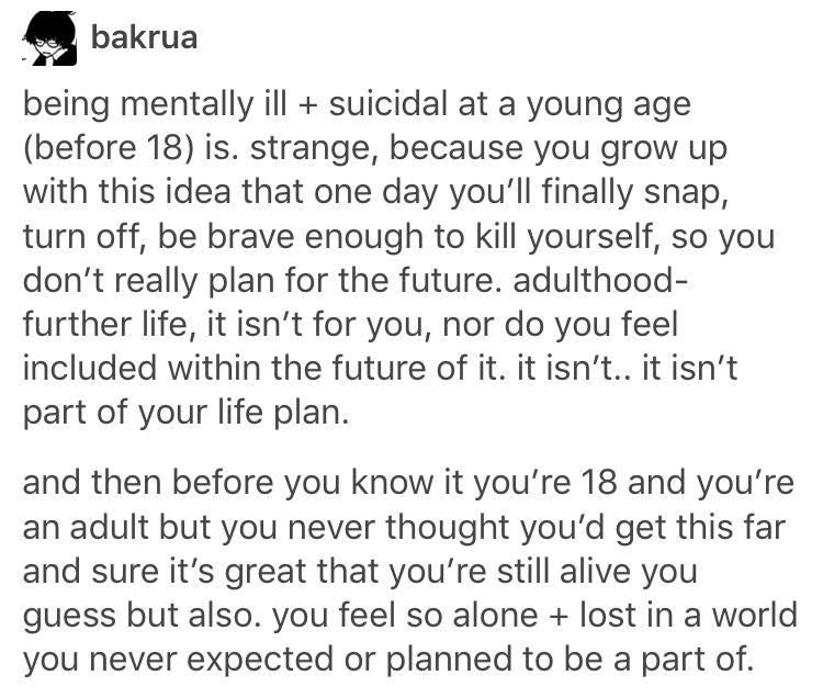 Tumblr Post From User Bakrua Black Text On A White Background Being Mentally