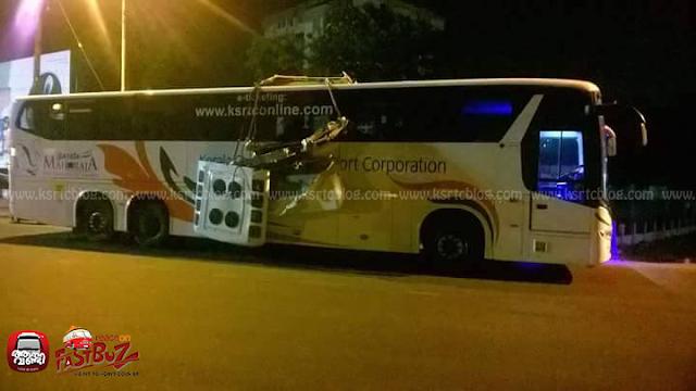 Trivandrum - Mangalore Scania Bus met accident near Aluva ...