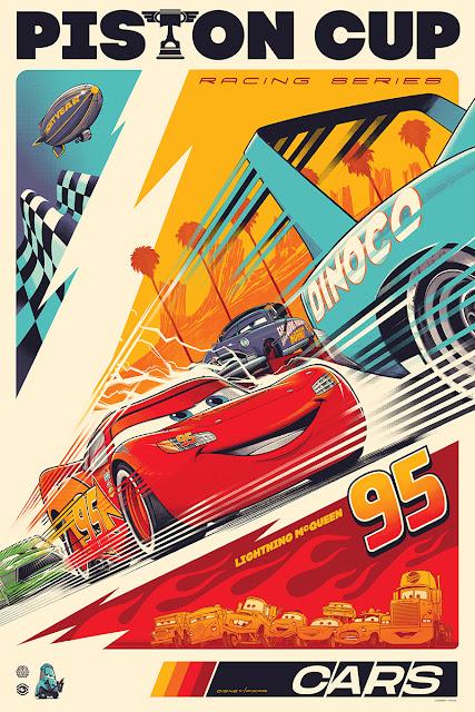 Cars Piston Cup Cesar Moreno Mondo Poster
