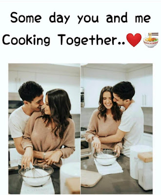 cooking together love