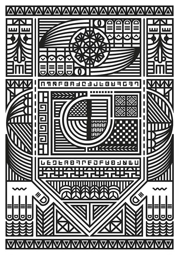 Inspirasi Desain Line Art - ZERO4 BY ALESSANDRO BERGOMI