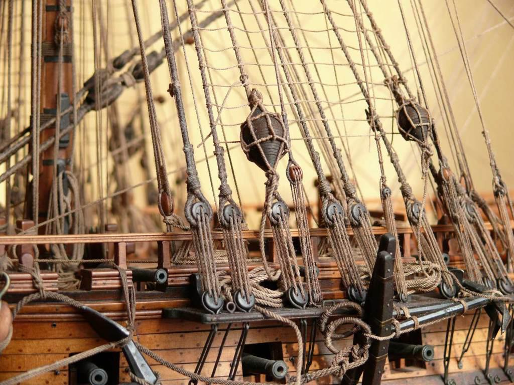 how to build ship mast on a model ship