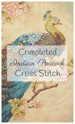 Indian Peacock Cross Stitch
