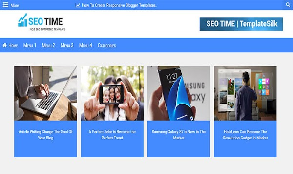 SEO Time Blogger Template