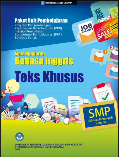 DOWNLOAD BUKU MODUL PKP GURU BAHASA INGGRIS SMP TAHUN 2019/2020
