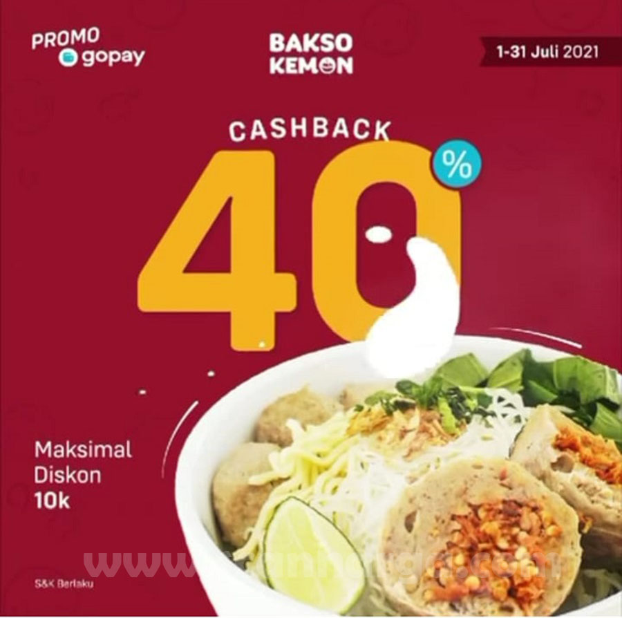 BAKSO KEMON Promo CASHBACK 40% pakai GOPAY