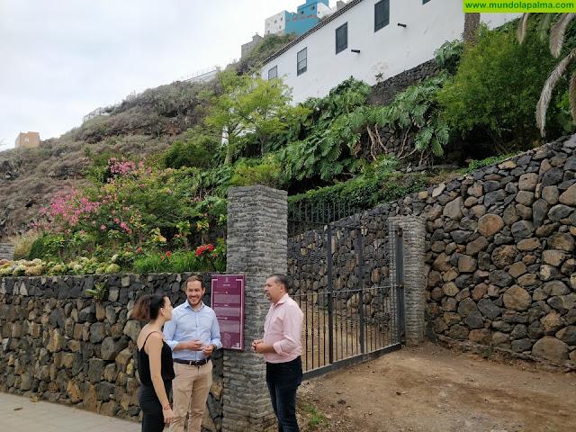 El Cabildo apoya el desarrollo de La Quinta Verde con una ayuda para renovar las luminarias de su palmeral