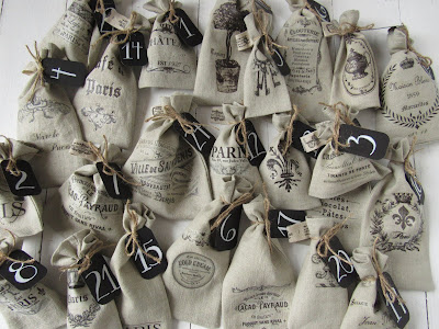 24 bags french linen refillable