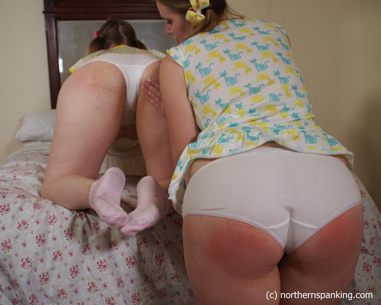 white Girls panties in paddled