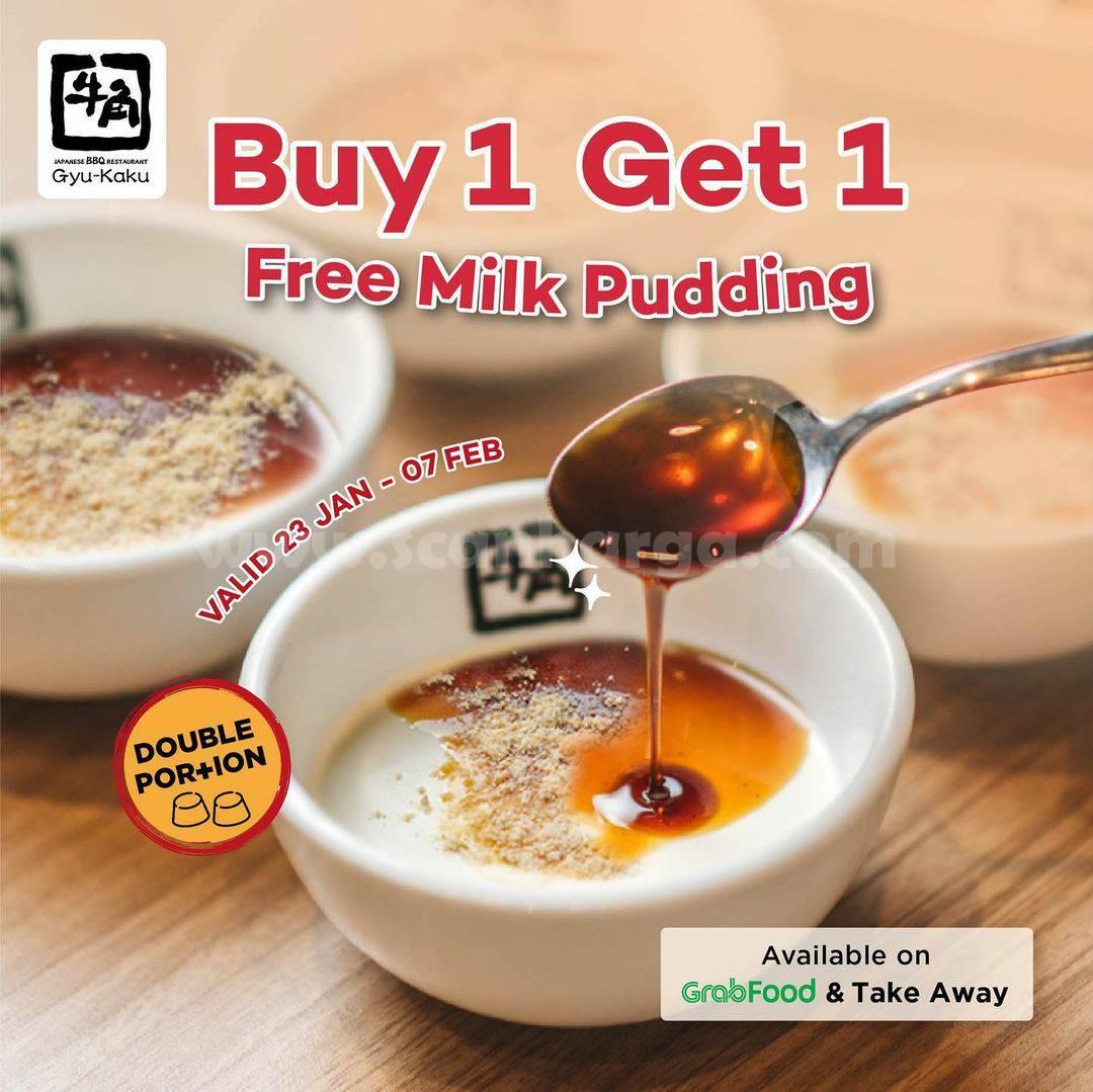 Promo GYUKAKU Terbaru - BUY 1 GET 1 FREE Milk Pudding