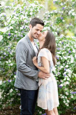 fiance kissing on cheek