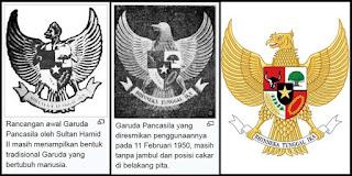 Beberapa perubahan rancangan Garuda Pancasila