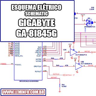 Esquema Elétrico Placa mãe Gigabyte GA-8I845G Motherboard Manual de Serviço  Service Manual schematic Diagram Gigabyte GA - 8I845G Motherboard    Esquematico Gigabyte GA - 8I845G Motherboard