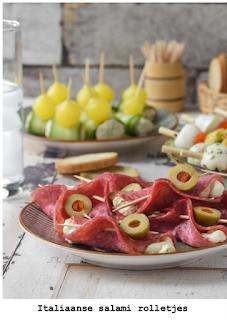 Salami met italiaanse vulling