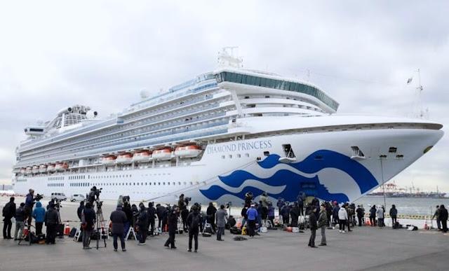 Diamond Princess, en el puerto de Yokohama