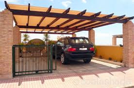 Supply and Installation of Wooden Car Parking Shades in Dubai UAE.