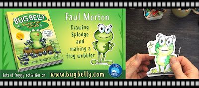 video of author/illustrator Paul Morton drawing one of his bug belly characters