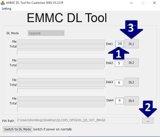 Download eMMC DL Tool and eMMCDL Flash Tool V5.2.0