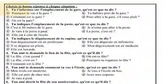 مراجعة اللغة الفرنسية للصف الثاني الثانوي ترم اول