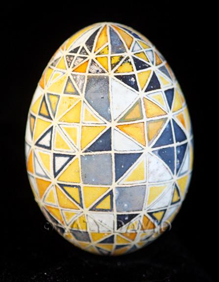 "©Katy David 2016 ""Senescence"" Goose eggshell, aniline dye, ink, varnish"