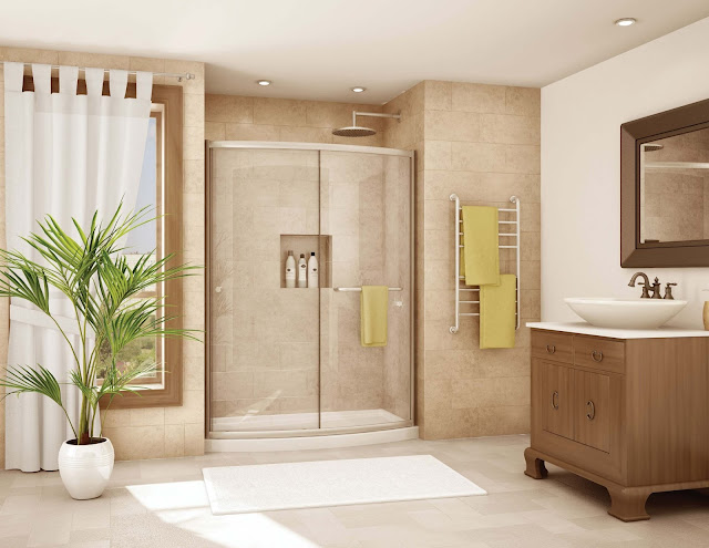 Wonderful Ideas On How To Decorate A Bathroom Design Photos Door Ideas For Small Bathroom Wall Mounted Square Clear Glass Mirror Stainless Steel Head Shower Grey Concrete Stone Polished Floor Images Modern Style Small Bathroom Remodel Ideas Pictures