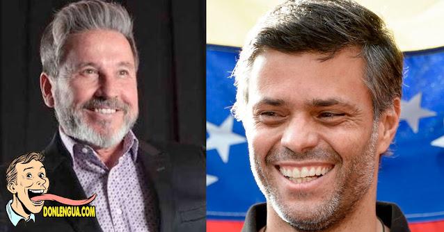 Ricardo Montaner le da la bienvenida al exterior a Leopoldo López