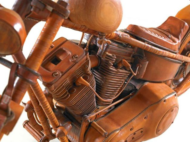 all-leather motorcycle