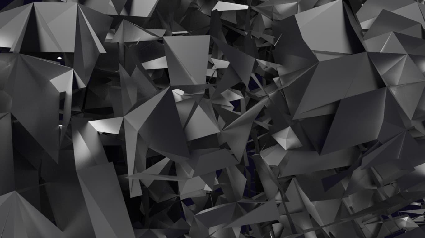 Wallpaper per PC 1366x768 3D spigoli neri