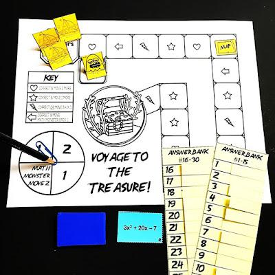 Voyage to the Treasure! Factoring A>1 Quadratic Trinomials Game